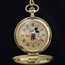 Disney Pulsar Mickey Mouse Gold Pocket Watch