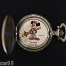 """NEW Disney Mickey Mouse Limited Edition 'Thursday"""" Circus Day Pocket Watch HTF"""