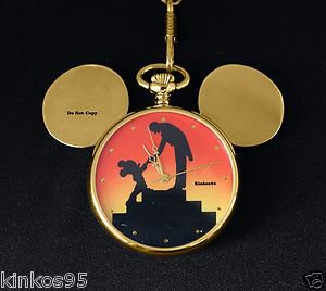 NEW Disney Mickey Mouse 1994 Convention Limited Edition Pocket Watch HTF