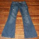 Ladies MUDD Distress Denim Flare Jeans Juniors Size 9