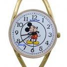 NEW Ladies Disney Mickey Mouse Pie Eye Gold Bangle Watch HTF