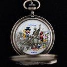NEW Walt Disney Mickey Minnie Mouse Donald Limited Edition Train Pocket Watch