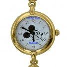 NEW Disney Mickey Mouse Gold Toggle Bracelet Watch HTF