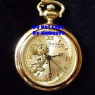 NEW Disney Fossil Jiminy Cricket Limited Edition Gold Pocket Watch HTF