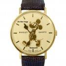 NEW Men's Disney Bradley Mickey Mouse Swiss Pie Eye Gold Watch HTF