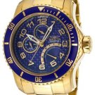 NEW Mens Invicta Pro Diver Blue Dial 18K Stainless Steel Watch