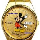Mint Ladies Disney Mickey Mouse SEIKO Starburst Date/Day Watch HTF #33