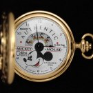 Disney Mickey Mouse Colibri Authentic Gold Pocket 1928 Watch HTF
