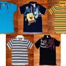 LOT of 5 GAP, Tommy Hilfiger, Spongebob Collar Boys T Shirts Size Small