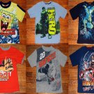LOT of 6 Marvel Iron Man Spongebob The Hulk Avatar Boys T Shirts Size 8 Medium