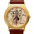 NEW Disney Goofy Gold Silhouette Watch HTF