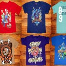 LOT of 6 Super Heroes, Mario, Zombie Boys Mixed T shirts Size 4/5 XS
