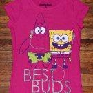 """NWOT Girls Nickelodeon Sponge bob and Patrick Star """" Best Buds"""" T Shirt"""