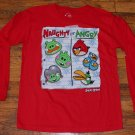 NWOT Boys Angry Birds Naughty or Angry Long Sleeve Red Shirt