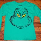 NWOT Boys Dr. Seuss Grinch Green Long Sleeve Shirt Size 8