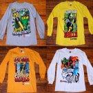 NWT Boys Lego Ninjago Long Sleeve Shirt Size 8 - 4 Styles to choose