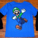 NWOT Boys Nintendo Super Mario Luigi Long Sleeve Shirt Size 6/7