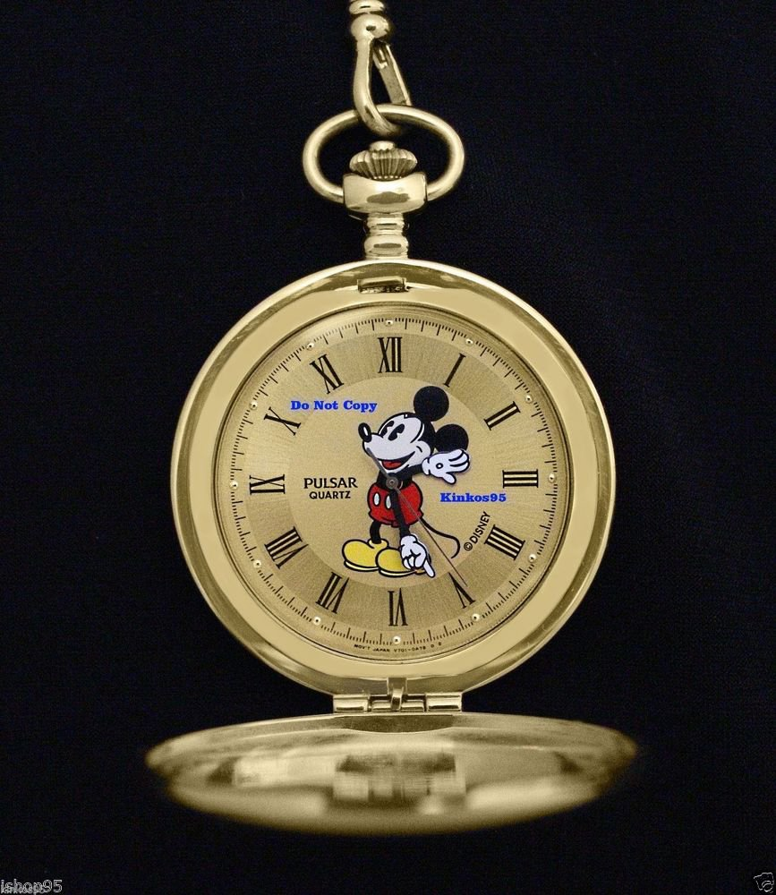 disney pulsar mickey mouse gold pocket htf