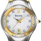 NEW Ladies Bulova Two-Tone Diamonds Date Watch