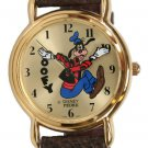 NEW DISNEY GOOFY PEDRE BACKWARDS COLLECTORS GOLD WATCH