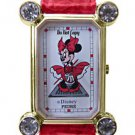 NEW DISNEY PEDRE MINNIE MOUSE MARILYN MONROE RED DRESS WATCH