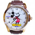 BRAND NEW Men's Disney Mickey Mouse Large 2-tone Watch HTF
