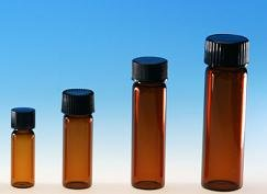 (72 ct) 2 Dram Size (1/4 oz/8 ml) Amber Glass Vials w/ Polypropylene Caps - Wholesale Glass Vials