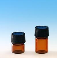 (72 ct) 5/8 Dram Amber Glass Vials w/ Polypropylene Caps - Wholesale Glass Vials