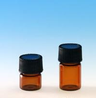 SALE: (144 ct) 1/4 Dram Amber Glass Vials w/ Polypropylene Caps - Wholesale Glass Vials