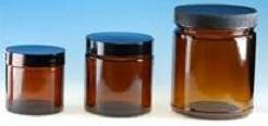 (48 ct) 2 oz Amber Glass Jars with Twist Lids (Empty) - Wholesale Glass Jars