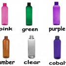 Wholesale Bottles (72 ct) 4 oz Multi Color Plastic Bottles with Non-Dispensing Black Caps