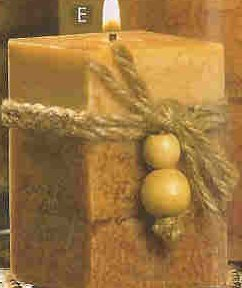 RUSTIC WOOD SQUARED VOTIVE ( # 39241)