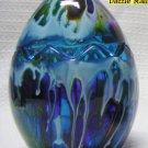 Blue Easter Egg Glass Candle Holder