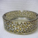 Leopard Print Circle Glass Ashtray-1