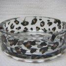 Leopard Print Circle Glass Ashtray-2