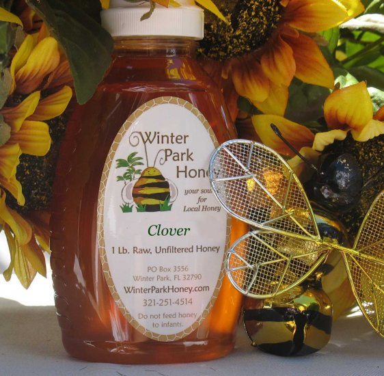 16 oz Clover Honey (raw, unheated and unprocessed)