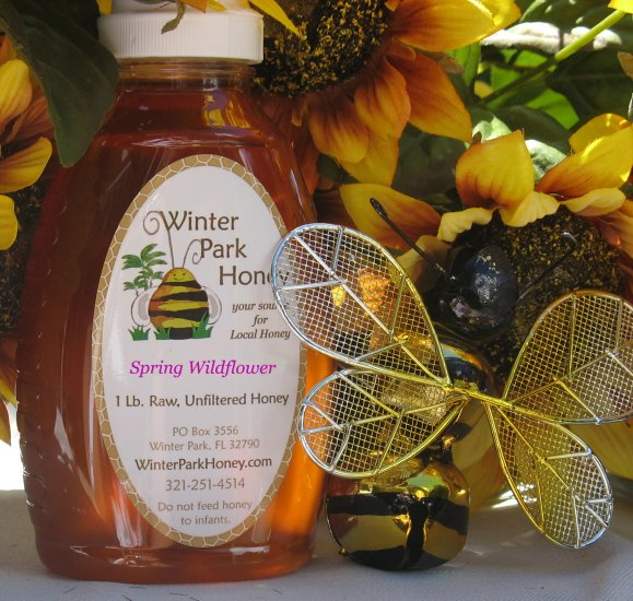 16 oz Spring Wildflower Honey (raw, unfiltered and unprocessed)