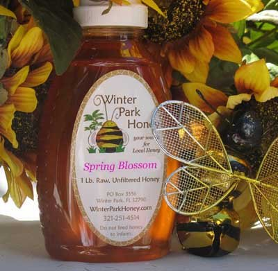 16 oz Spring Blossom Honey (raw, unheated, unprocessed)