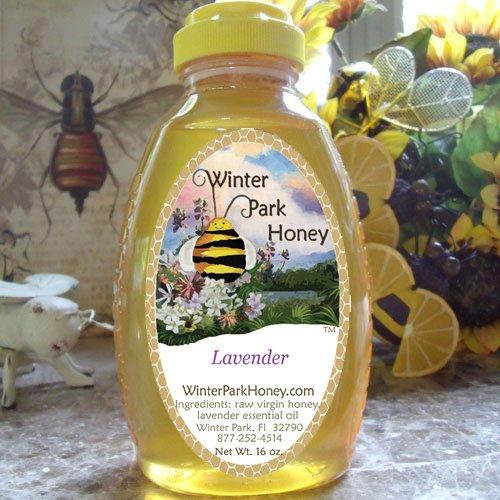 Lavender Honey 16oz  - Raw, Pure, Natural