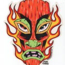 Flaming Tiki Sticker (S-85)