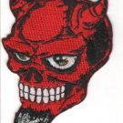 Devil Skull Embroidered Patch (p-302)