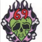 69 Flames Embroidered Patch (p-324)