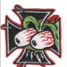 Eyes Cross Embroidered Patch (p-331)