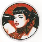 Red Bettie with Gloves Sticker (S-501)