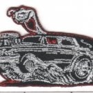 Hot Rod Hearse Embroidered Patch (p-342)