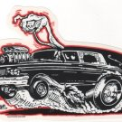 Hot Rod Hearse Sticker (S-53)