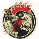 Rockabilly Rooster Sticker (S-117)
