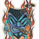 Small Smokin' Tiki Sticker (S-443)