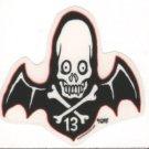 Small 13 Bat Sticker (S-448)