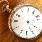 Waltham Crescent St. 21 Jewels 18 Size 2-Tone Mvmt Pocket Watch – Ornate Case (Pocket Watches)